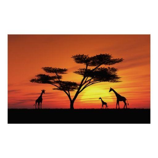 512x512 african sunset poster art class stuff african