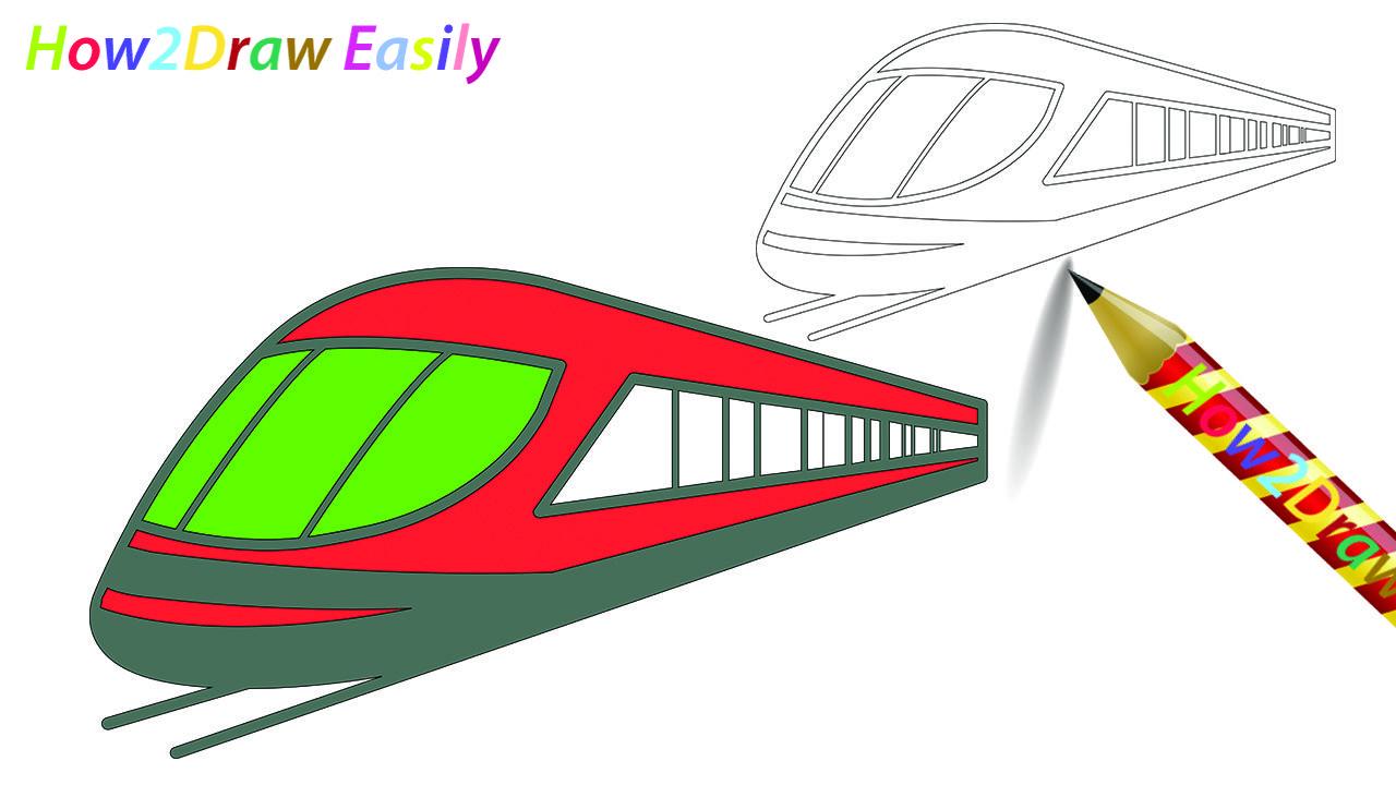 Easy Train Drawing
