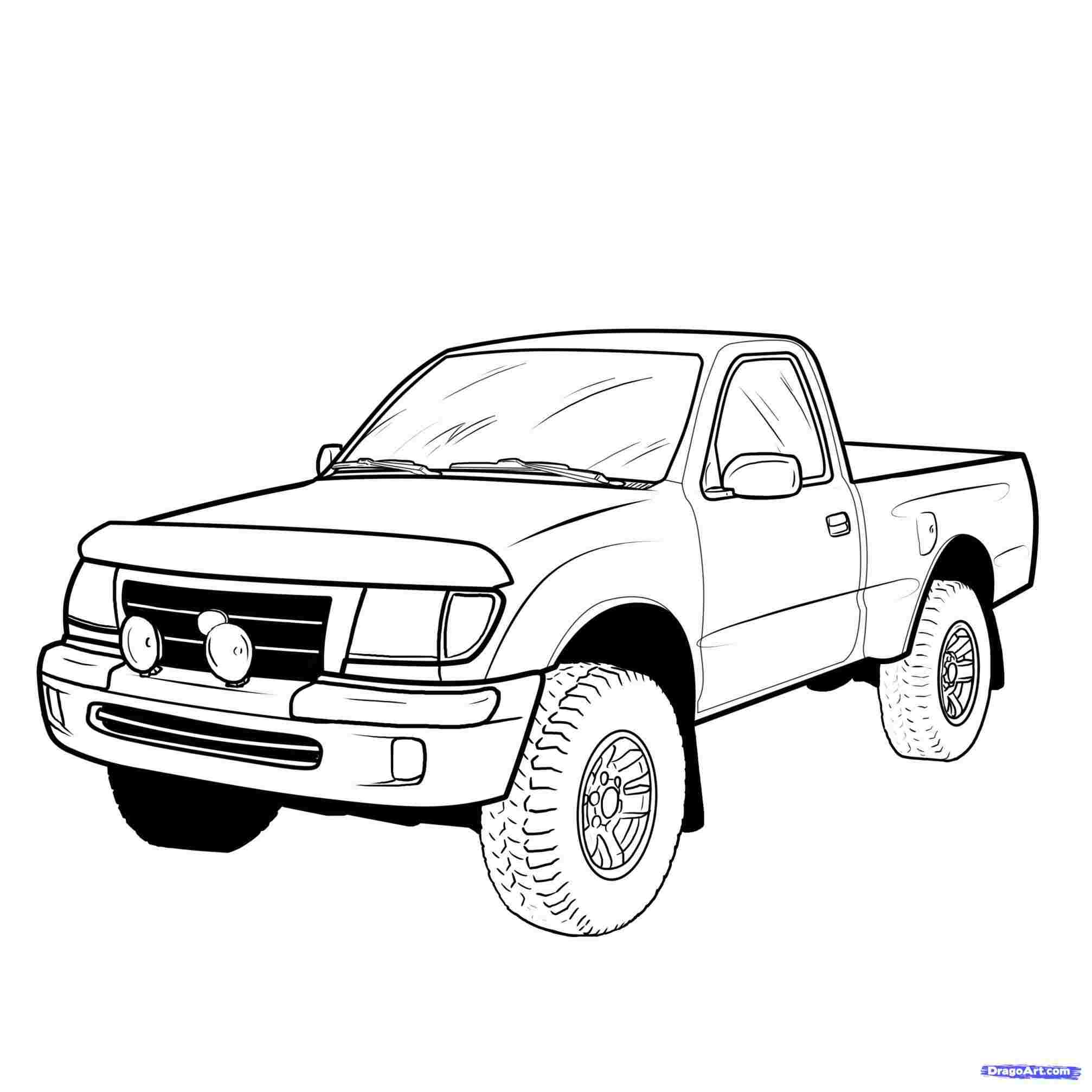 Easy Truck Drawing Free Download Best Easy Truck Drawing On