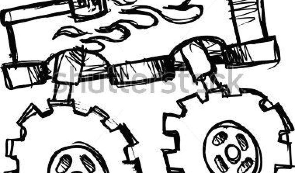 1024x600 drawing easy truck how to draw a truck easy monster truck drawings