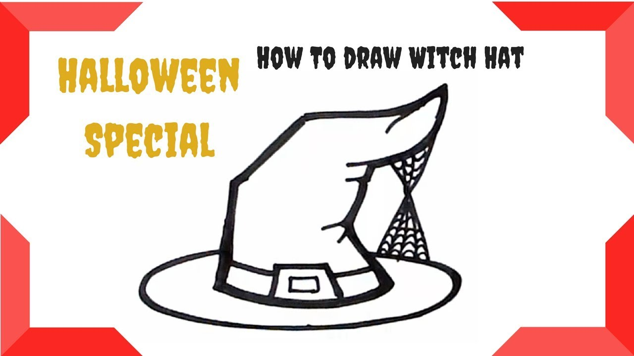1280x720 how to draw easy halloween witch hat halloween witch hat drawing