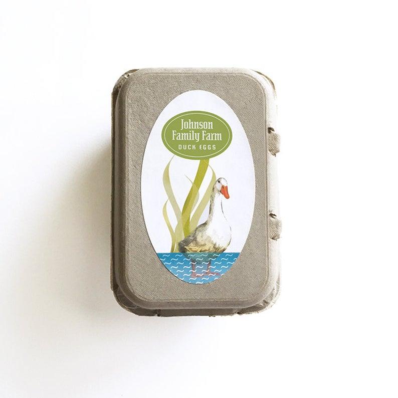794x794 duck egg carton labels personalized duck sticker egg carton etsy