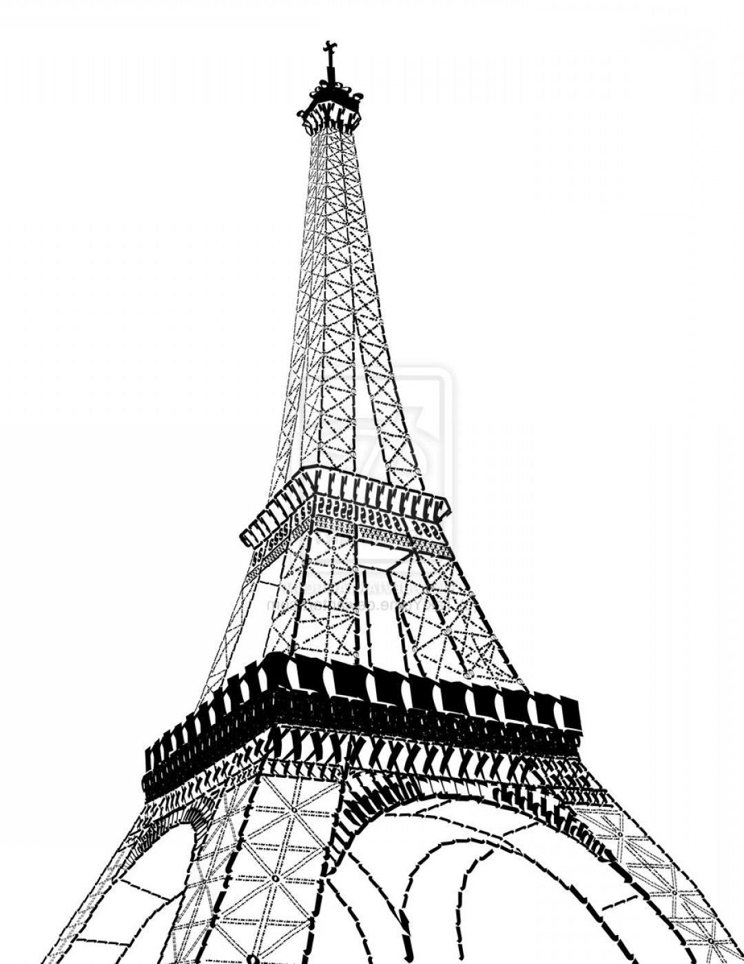 1080x1398 awesome cartoon drawing of eiffel tower eiffel tower vector free