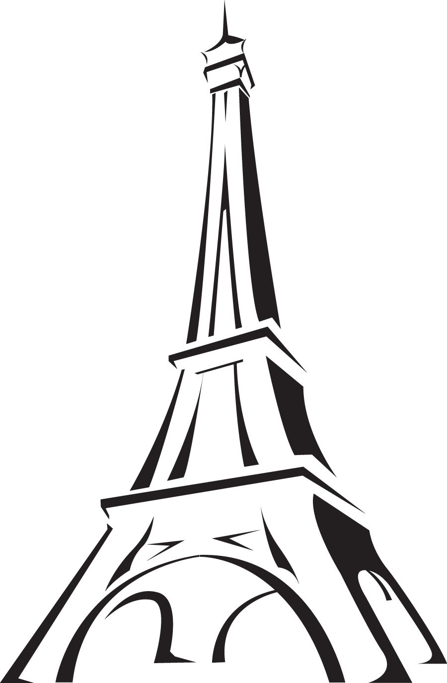 900x1375 france clipart image the eiffel tower in paris france