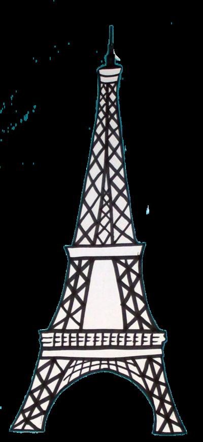 Eiffel Tower Drawing 3d