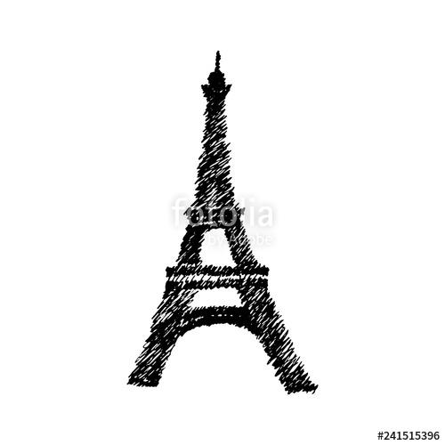 500x500 vector hand drawn eiffel tower vector hand drawn illustration