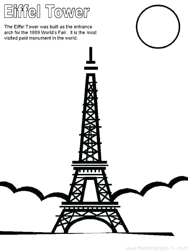 650x866 eiffel tower colouring sheets tower coloring pages tower