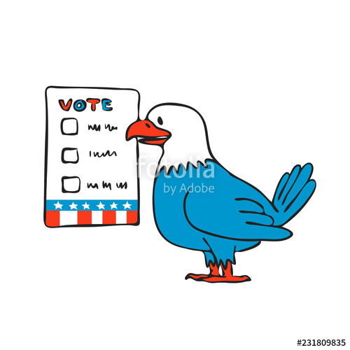500x500 american eagle voting election ballot drawing stock image