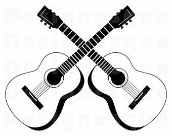 340x270 guitar outline guitar guitar outline clipart guitar etsy