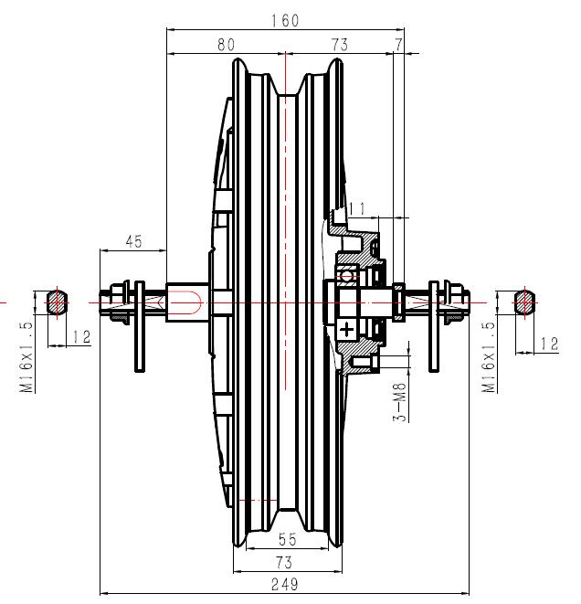 Electric Motor Drawing