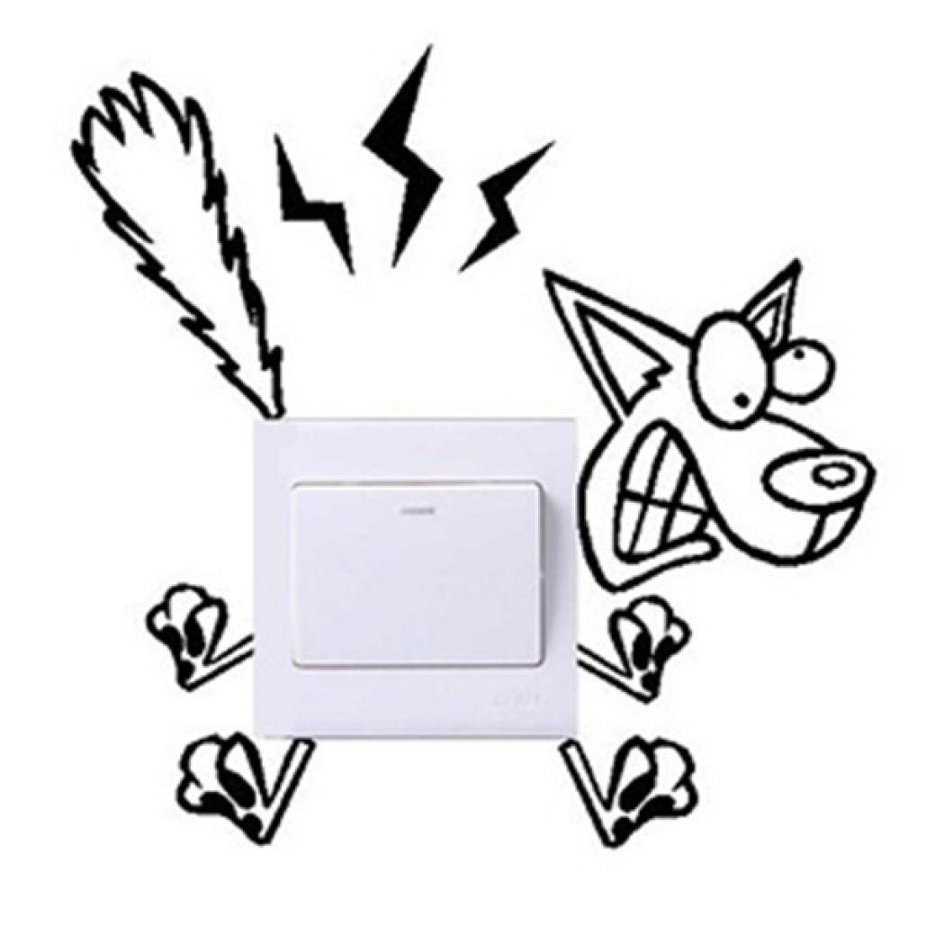 1039x1039 electric shock dog wall stickers,hshi diy wall decals art wall