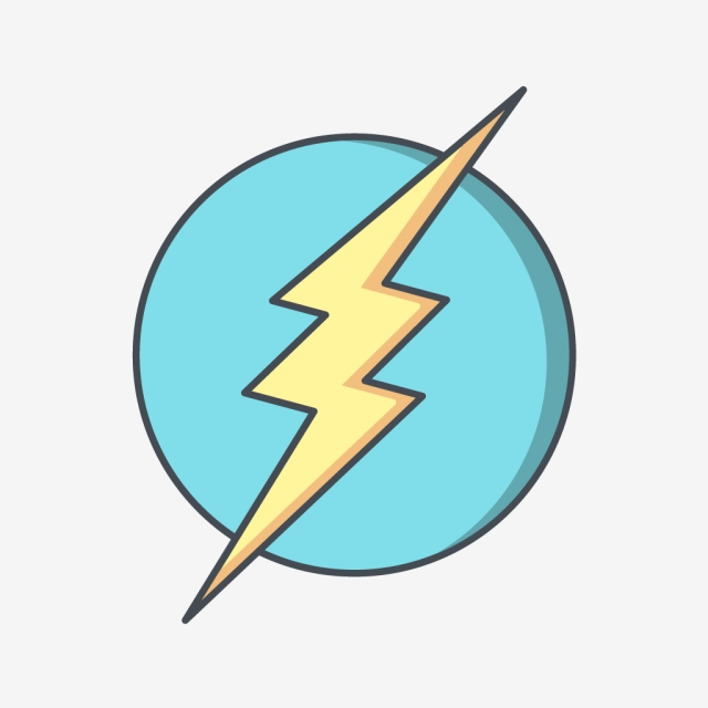 640x640 electric shock vector icon, electricity icon, electric shock icon