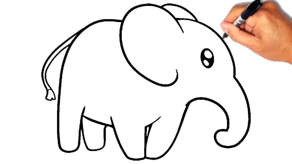 1024x576 Elephant Picture For Drawing Beautiful Elephant Drawing Template