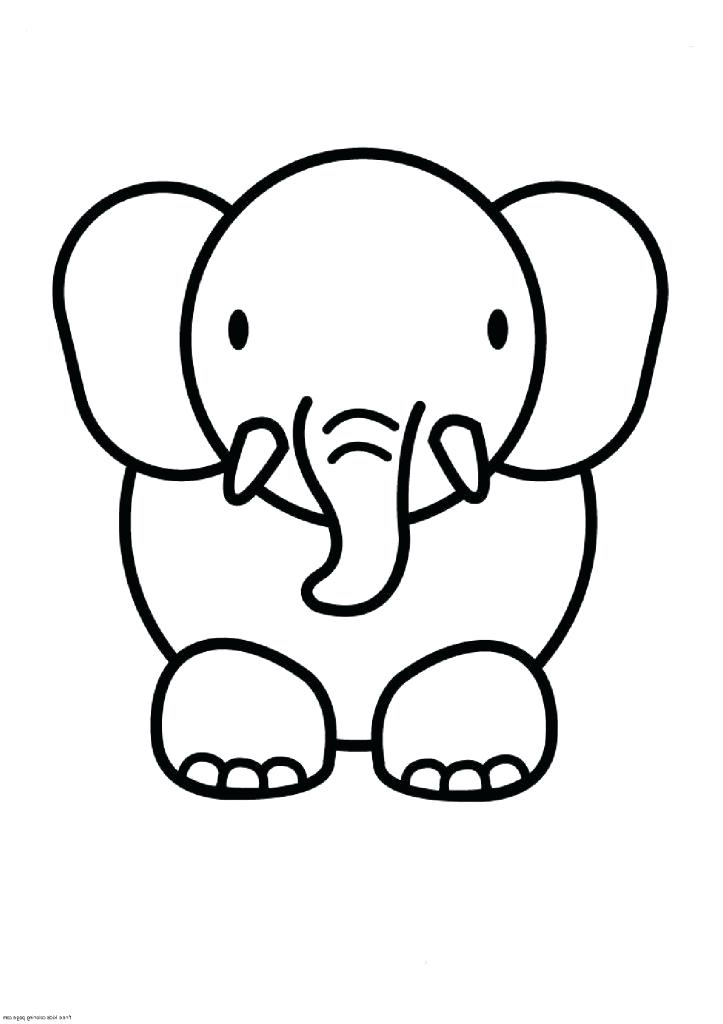 723x1024 Cute Easy Drawings Of Animals How To Draw A Simple Elephant More