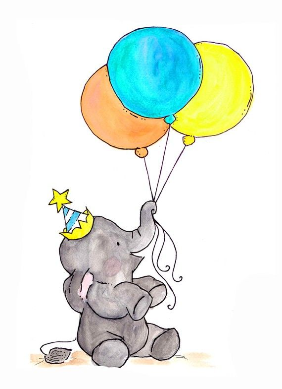 Elephant Balloon Drawing   Free download on ClipArtMag