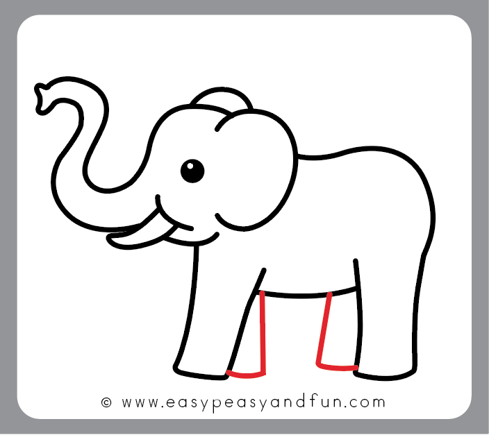 704x627 elephant drawing easy how to draw an elephant step step elephant
