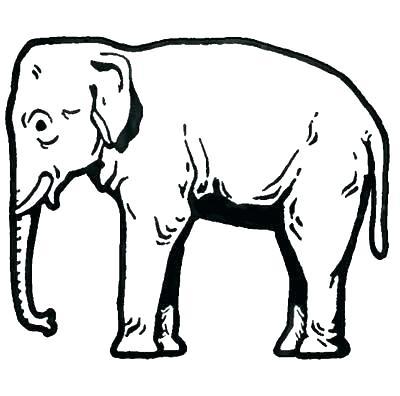 400x396 elephant drawing outline elephant outline drawing outline elephant