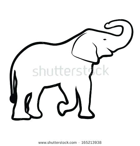 450x470 outline elephant how to draw an elephant elephant outline outline