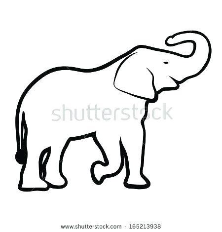 450x470 outline elephant how to draw an elephant elephant outline outline