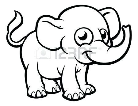 450x346 outline elephant light blue elephant clip art elephant outline
