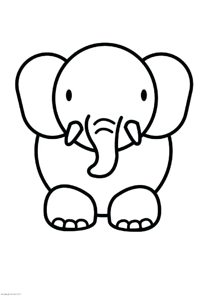 Elephant Drawing Easy Free Download Best Elephant Drawing Easy On