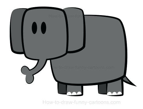 500x381 How To Draw An Easy Elephant How To Draw Elephant Easy Way