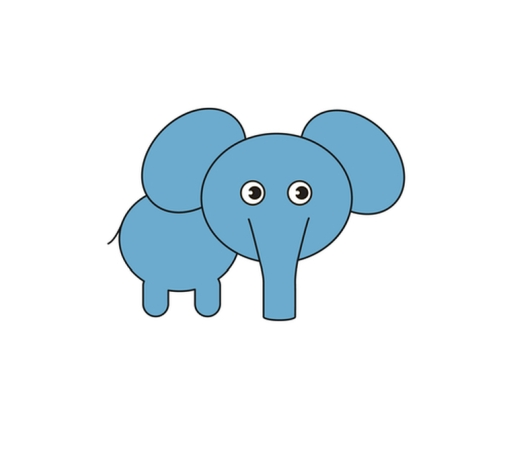 521x464 How To Draw An Elephant Step