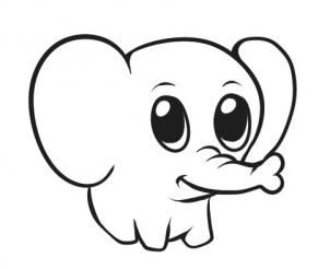 302x246 How To Draw A Simple Elephant, Step
