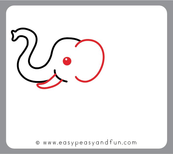 703x627 How To Draw An Elephant