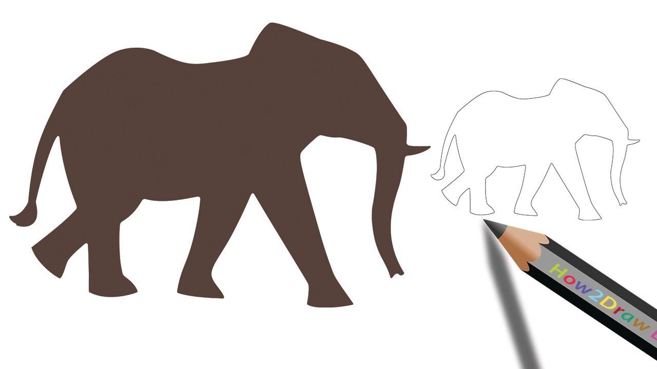 1280x720 How To Draw An Elephant Step