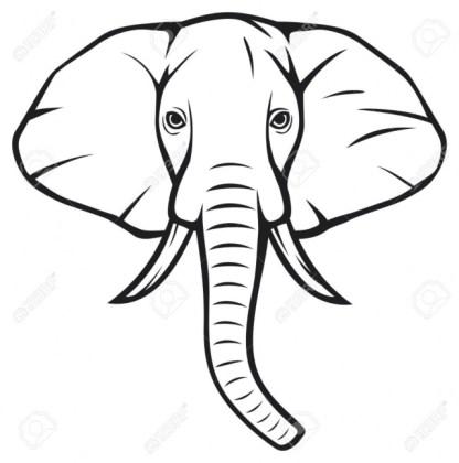 416x420 Cute Elephant Drawing Easy