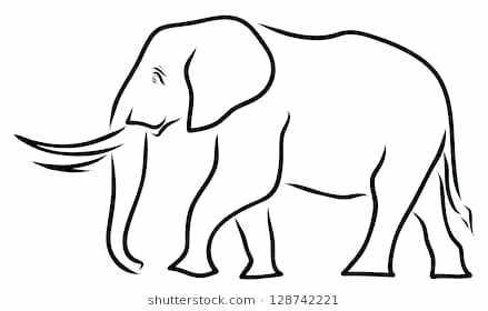 439x280 Draw Elephant Draw Elephant How To Draw A Cute Elephant Step