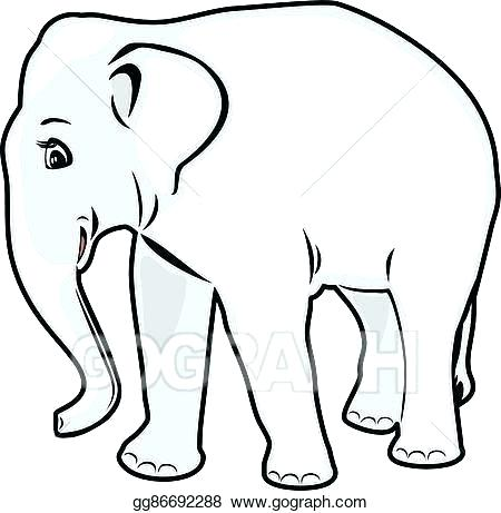 450x461 elephant drawing outline elephant outline elephant outline free