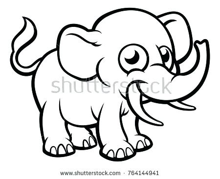 450x366 outline elephant elephant simple outline drawing cute elephant
