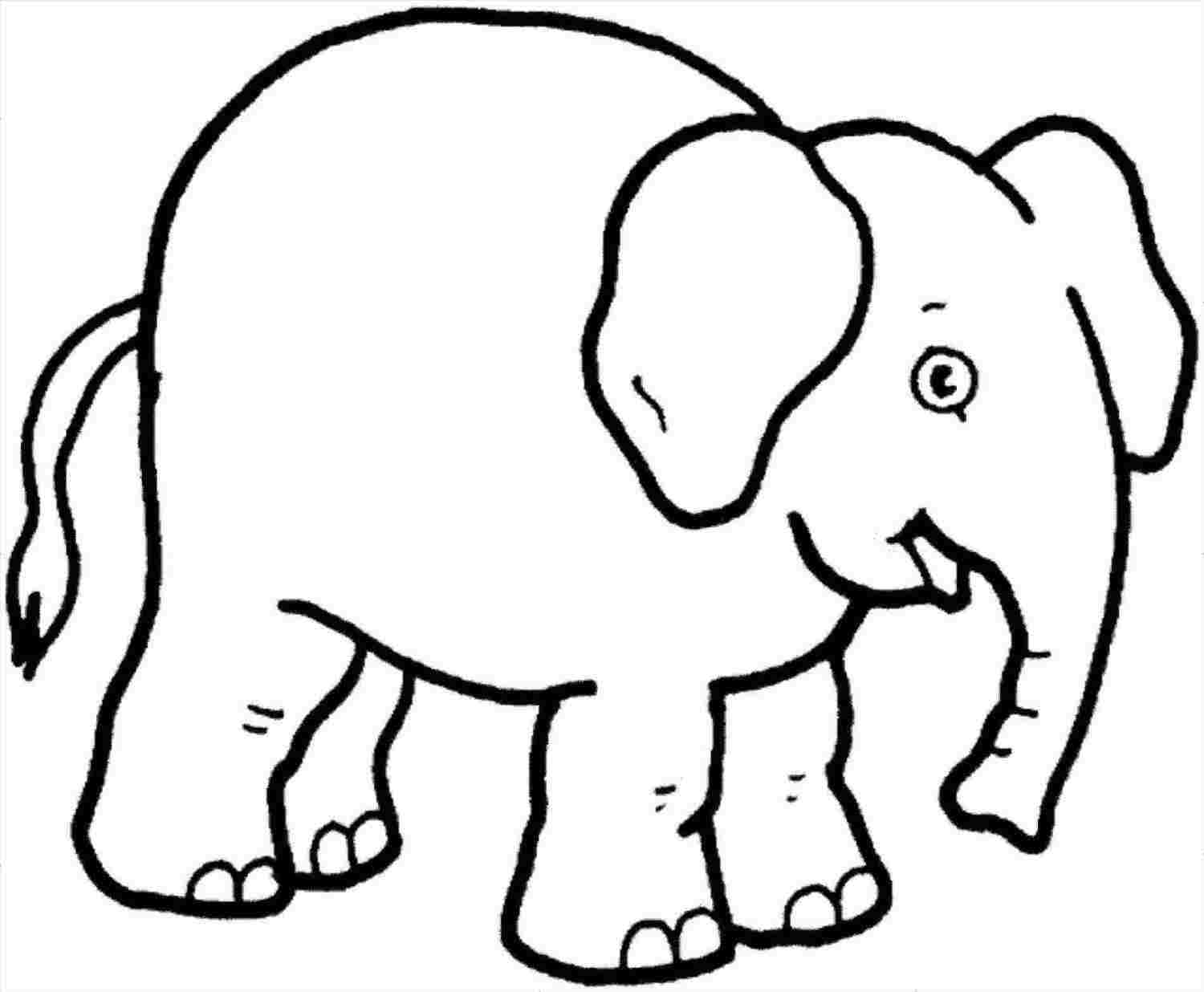 1500x1236 Easy Simple Elephant Drawing