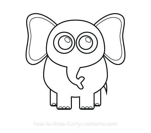 500x440 elephant draw elephant awing odd baby elephant simple drawing