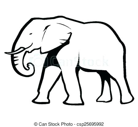 450x412 Elephant Drawing Outline Outline Of An Elephant Zoo Animal