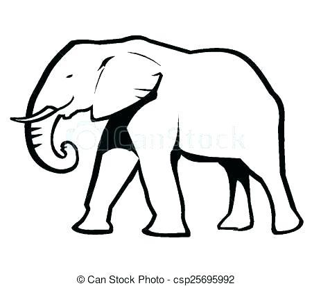 450x412 Elephant Drawing Outline Outline Of An Elephant Zoo Animal