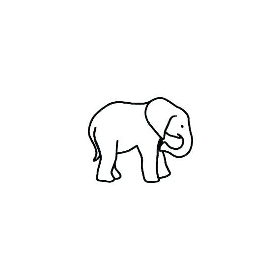570x570 How To Draw An Elephant Simple Baby Outline