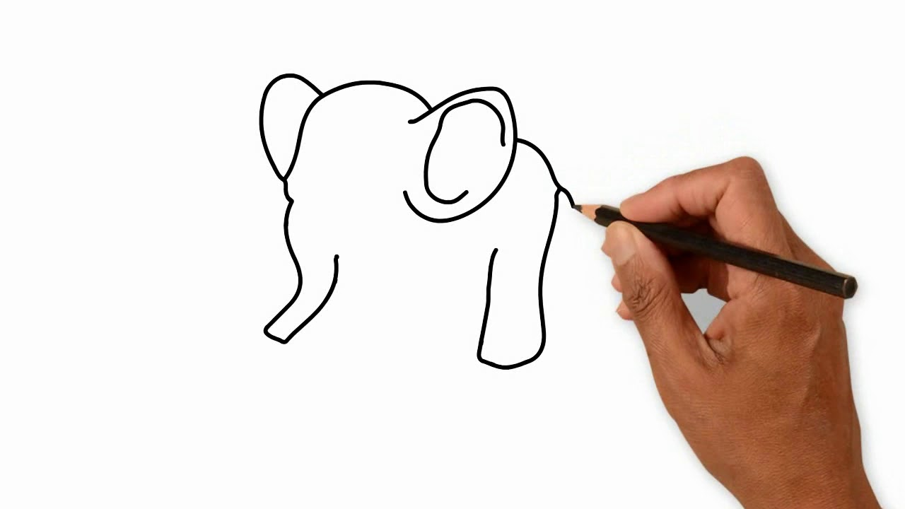 1280x720 How To Drawing Simple Elephant For Kids