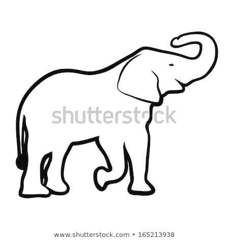 450x470 Outline Elephant Elephant Simple Outline Drawing Cute Elephant