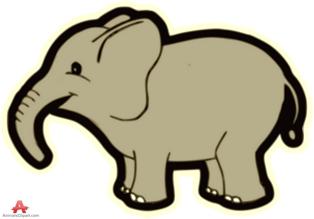 999x697 Outline Of A Elephant Clipart Simple Drawing Free Coloring Pages
