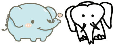 400x159 Simple Elephants