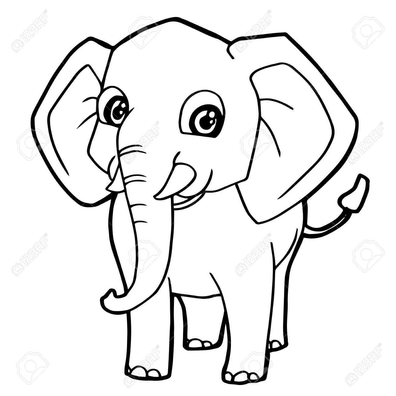 1300x1300 Cute Elephant Face Drawing Family Simple Images Kawaii Step