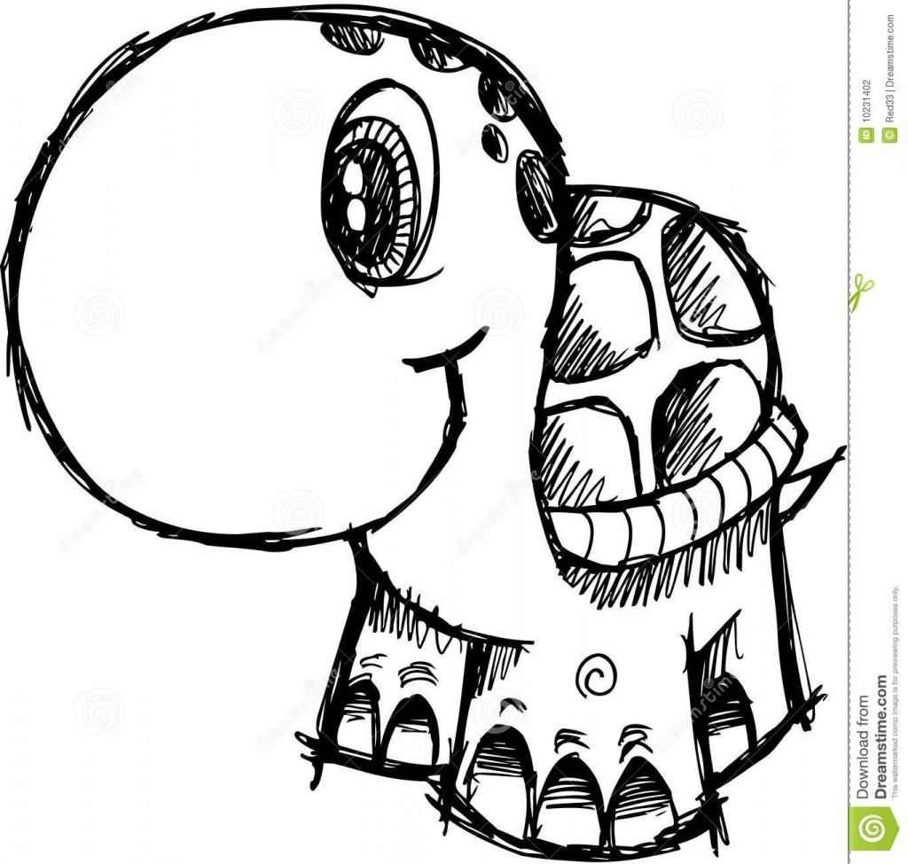 1024x975 Cute Simple Elephant Drawing