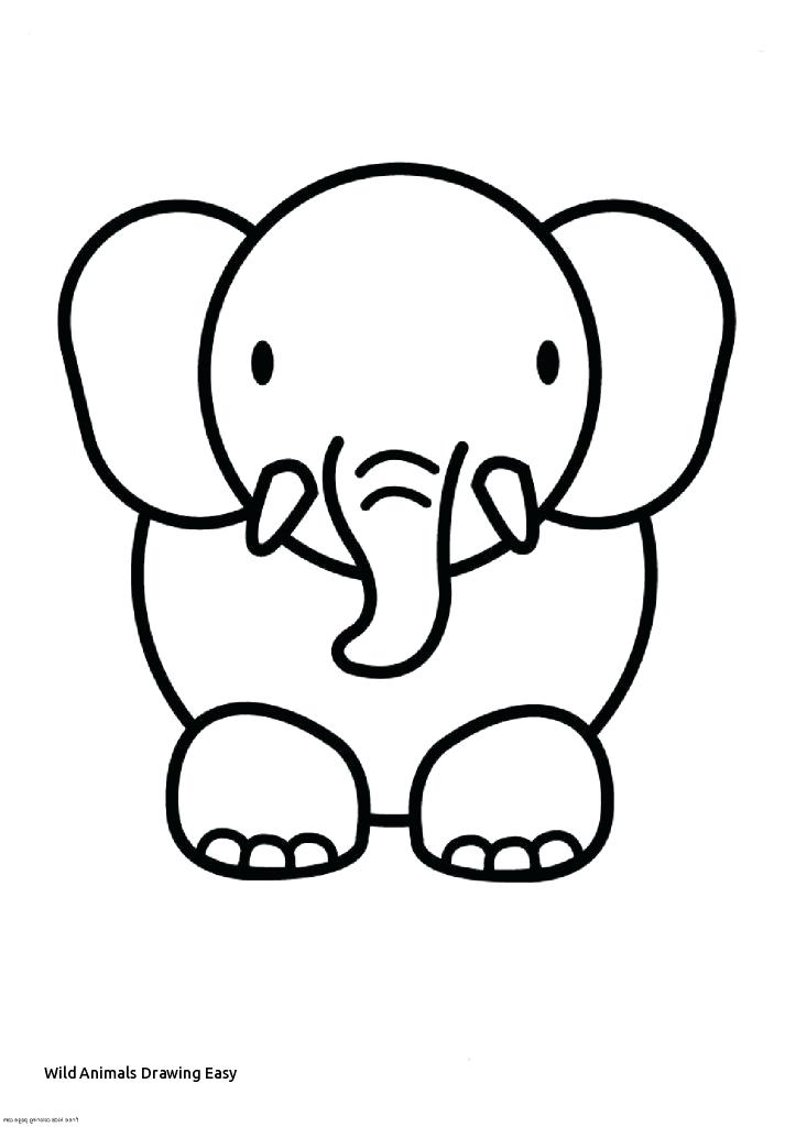 723x1024 Easy Animals How To Draw An Easy Elephant Easy To Draw Cute