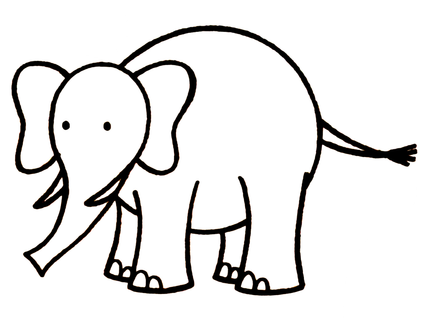 1378x1038 Awesome Elephant Drawing For Kids Gallery