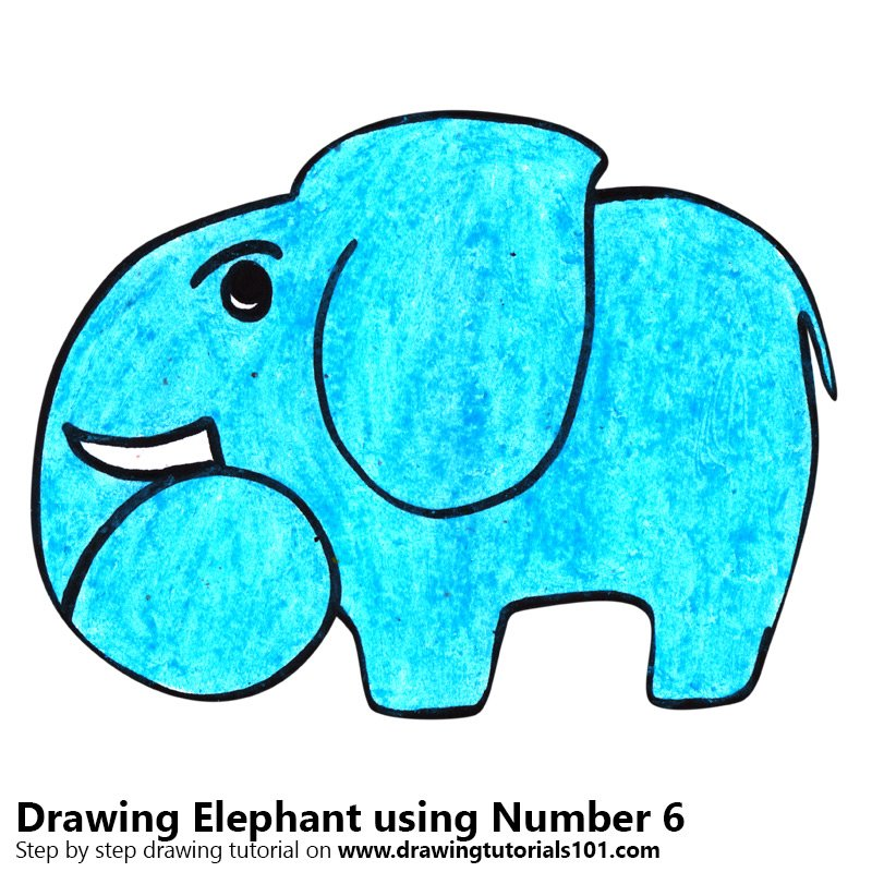 800x800 Learn How To Draw A Elephant Using Number