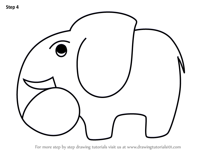 848x602 Learn How To Draw A Elephant Using Number