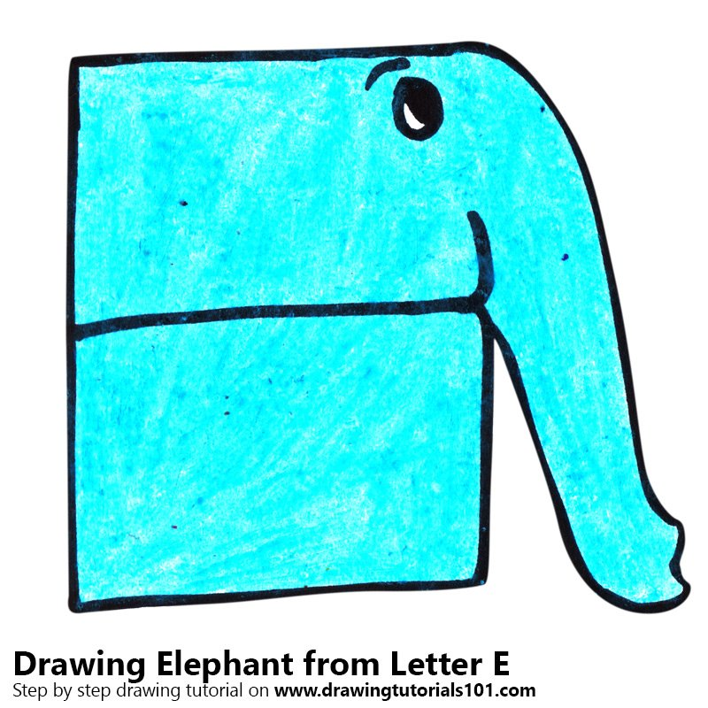 800x800 Learn How To Draw An Elephant From Letter E